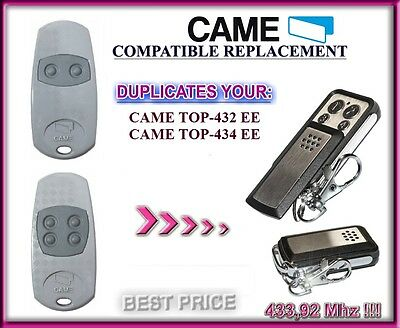 CAME TOP432EE / CAME TOP434EE compatible télécommande / Cloner 433,92Mhz