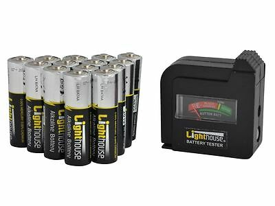 Lighthouse - AA Batteries Bulk Pack (14) + Tester