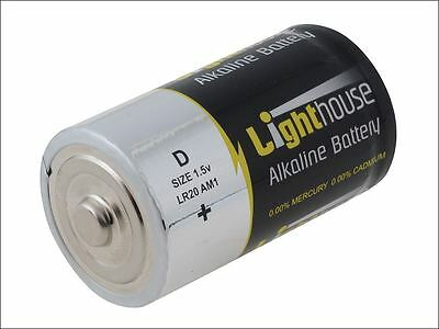 Lighthouse - Alkaline Batteries D LR20 14800mAh Pack of 2 - LR20