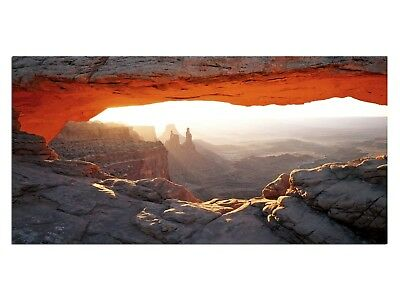 HD Glasbild EG4100500497 HÖHLE GRAND CANYON ORANGE 100 x 50 cm Wandbild LANDSCHA