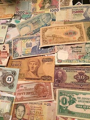 lot 100 banknotes from 100 different countries