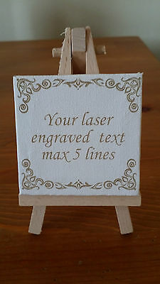 Laser engraved with personalized message Mini Canvas with Easel