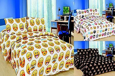 Emoji Emotion Pooh Smiley Faces  Duvet Set Single Double King Storage Box