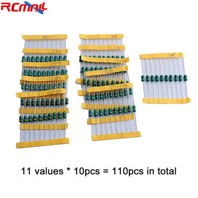 60Pcs/Set Inductor Color Ring Code Inductance 1MH 1.5MH 2.2MH 3.3MH 4.7MH 10MH