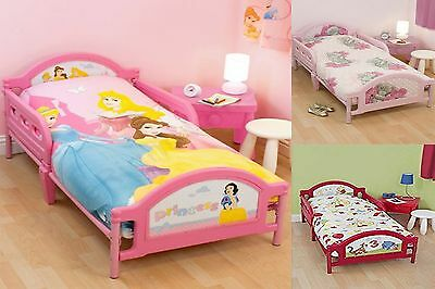 Childrens Toddler Cot Bed Junior Character Disney Cartoon Kids Childs