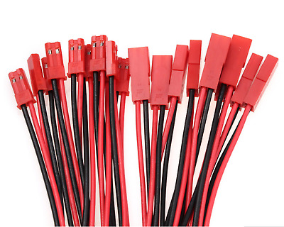 6 Paar Original JST BEC Stecker Male Female 15cm Kabel Lipo Akku Batterie 20AWG