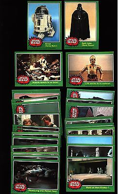 1977 TOPPS STAR WARS 4th SERIES GREEN NEAR SET 64/66 CARDS EX-MT / NM-MT F