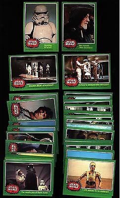 1977 TOPPS STAR WARS 4th SERIES GREEN NEAR SET 64/66 CARDS EX-MT / NM-MT G