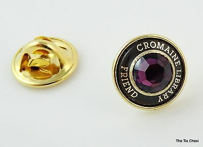 Cromaine Library Friend Pin Purple Stone