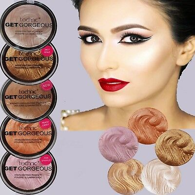 Technic Get Gorgeous Highlighting Powder Bronze illuminatin Pressed Shimmer Face