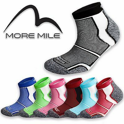 5 Pairs More Mile Sports Running Socks Cushioned COOLMAX  Mens Ladies Womens