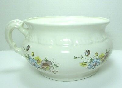 Antique Porcelain Floral White Chamber Pot C. 1800's