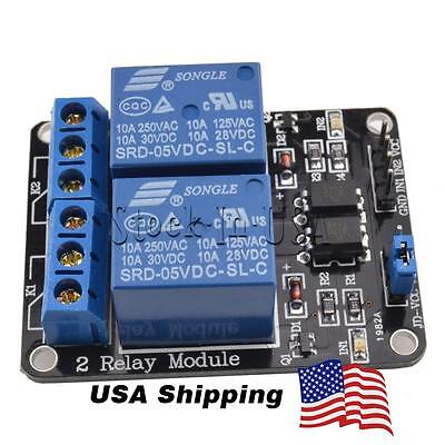 2 Channel DC 5V Relay Switch Module With Optocoupler for Arduino ARM AVR PIC DSP
