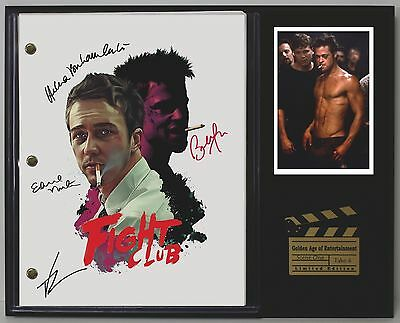 Fight Club - Reprinted Autograph Hollywood Script Display - USA Ships Free
