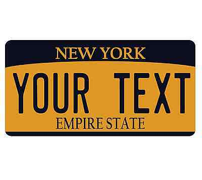 CUSTOMIZE NEW YORK YLW LICENSE PLATE EMBOSSED TEXT U WANT novelty AUTO plate TAG