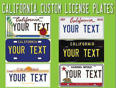 Custom Embossed License Plate USA California Personalized Car Auto Tag Metal
