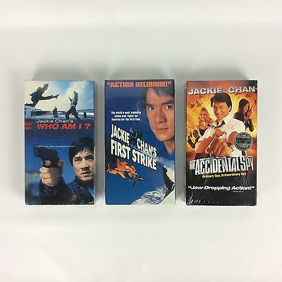 Jackie Chan Movies VHS Accidental Spy, First Strike & Who Am I Lot Of 3 NEW