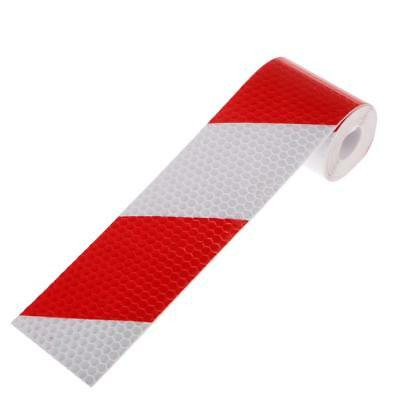 Car Truck Safety Warning Night Reflective Strip Tape Sticker Red with White