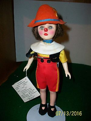 Effanbee Pinocchio 12 inch Doll in original Outfit with Swing Tag