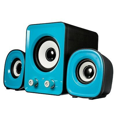 PC Speaker 2.1 Multimedia Stereo Desktop Portable USB Subwoofer Trio set