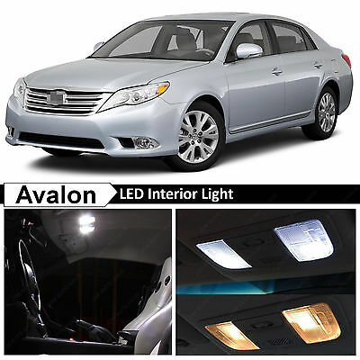 13x White Interior Map Dome LED Lights Package Kit for 2005-2012 Toyota Avalon