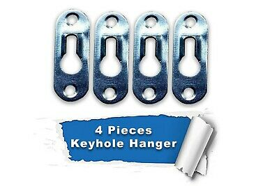 5 Pcs Metal Keyhole Hanger Fasteners for Picture Frames Cabinet 44mm x 16mm