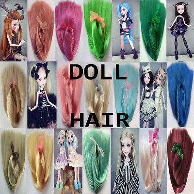 "DOLL HAIR-16-18""-Bjd wig-Suri alpaca-Mohair-Monster High-Pullip-Dollfie-Blythe"