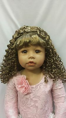 "NWT Monique Bernadette Ginger Br Doll Wig 17-18"" fits Masterpiece Doll(WIG ONLY)"