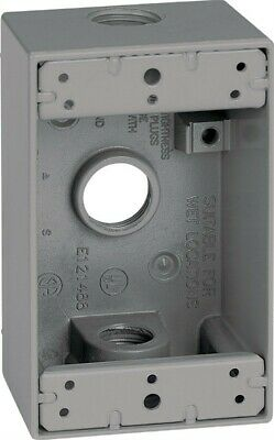 """Outlet Box 1G 1/2"""" 3Hole By Sigma Mfrpartno 14250"""