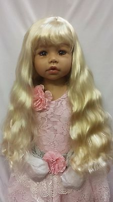 "NWT Monique Sabrina XL Blonde Doll Wig 17-18"" fits Masterpiece Doll (Wig ONLY)"
