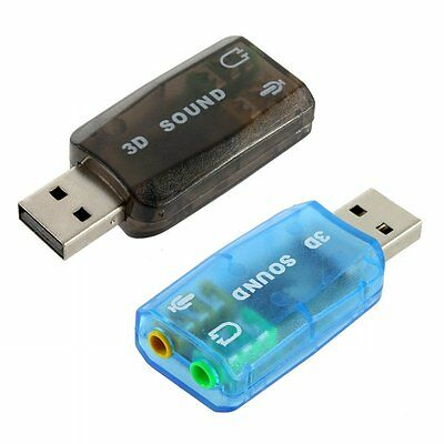 USB To 3.5mm Mic Headphone Jack Stereo Headset Sound Audio Adapter Card New E5