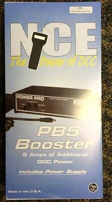 NCE 45 PB5 5 AMP Power Booster w/ power supply NCE Digitrax Lenz DCC  was PB-105