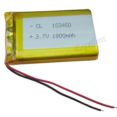 3.7v 1800 mah Polymer Li ion Lithium cells for GPS ipod DVD MP4 Tablet PC 103450