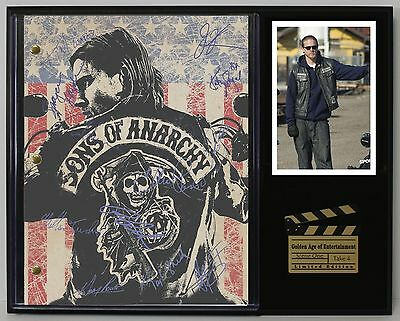 Sons of Anarchy - Reprinted Autograph TV Script Display - USA Ships Free
