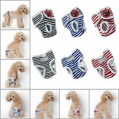 Fashion Pet Apparel Reusable Female Dog Diapers Dog Sanitary Panty Dog Clothes