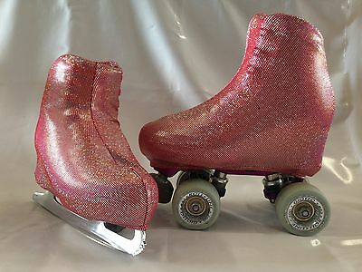 Red Holo Spots Boot Covers for RollerSkates and Ice Skates  S,M,L