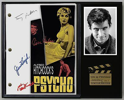 Psycho - Reprinted Autograph Movie Script Display - USA Ships Free