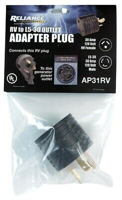Adapter Plug 30A Rv By Reliance Controls Mfrpartno Ap31Rv