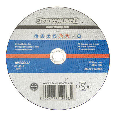 Silverline 259972 Metal Cutting Disc OSA Accredited230 x 2 x 22.23mm