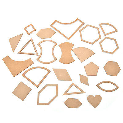 1 Set 54 x Mixed Quilt Templates Acrylic DIY Tools for Patchwork Quilter