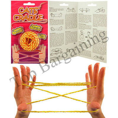 Kids Cats Cradle String Game with Instructions Fumble Fingers Knotty Games UK