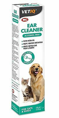 VETIQ Ear Cleaner for Cats & Dogs 100ml Ear Solution Neem Oil Soothe Irritation