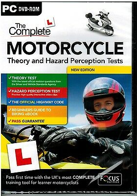 Motorcycle/Motorbike 2017 Theory & Hazard Perception Tests PC DVD-Rom NEW FcM