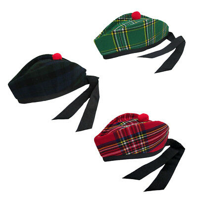 Tartanista Scottish Highland & Irish Tartan Glengarry/Kilt Hat - Sizes 58 - 62