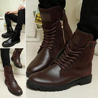 29ad3ba77c07f Winter Mens High Top Ankle Martin Boots Lace Up Casual Skate Man Leather  Shoes