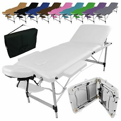 VIVEZEN ® TABLE DE MASSAGE PLIANTE 3 ZONES EN ALUMINIUM / Pliable Portable