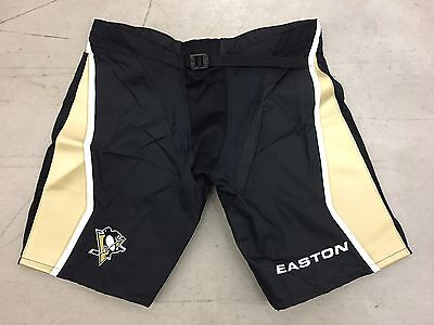 New Easton Pittsburgh Penguins NHL Pro Stock Hockey Player Girdle Pants Shell L