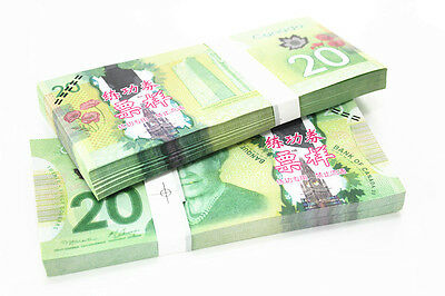 100pcs/Lot 20 C$ Paper Money Canada Bank Notes Commemorate the Collection