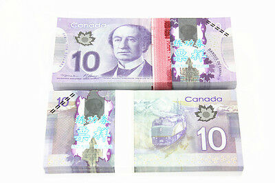 100pcs/Lot 10 C$ Paper Money Canada Bank Notes Commemorate the Collection