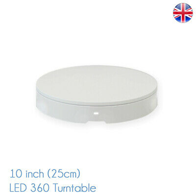 360 LED Professional Photo Turntable 25cm 5kg for Product Photography